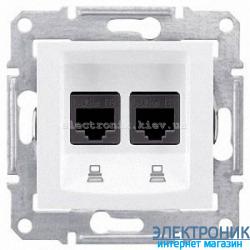 Розетка Schneider-Electric Sedna компьютерная UTP кат. 5е двойная белая