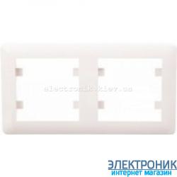 Рамка 2-двухкратная горизонтальная Hager Lumina2  крем