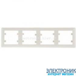 Рамка 4-четырехкратная горизонтальная Hager Lumina2  крем