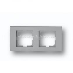 Рамка двойная Grano серебро