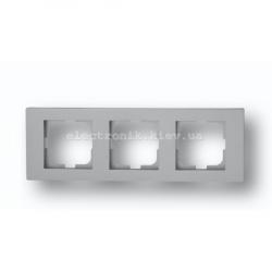 Рамка тройная Grano серебро