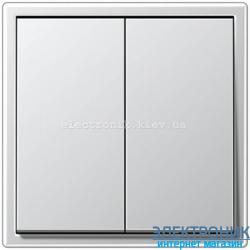 Выключатель двухклавишный JUNG LS990 алюминий