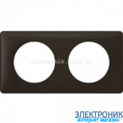 Рамка 2-постовая Legrand Celiane, прямоугольная, 161х82мм (черная перкаль)