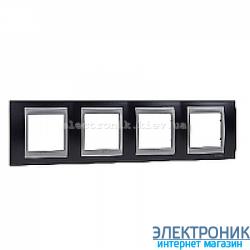 Рамка 4-я горизонтальная Schneider Electric Unica Top Металлик/Алюминий