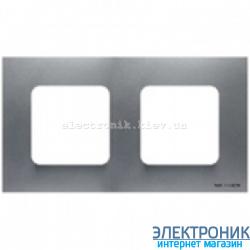 Рамка 2 пост ABВ Zenit серебро