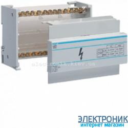 Распределительный блок 2-пол, 100A Hager KJ01A
