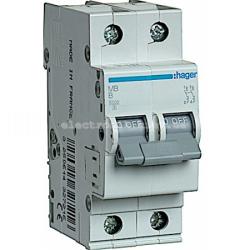 Выключатель автоматический Hager 2P B 50А MB250A