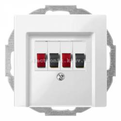Аудио розетка двойная Schneider Electric Merten System M полярно-белый