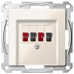 Аудио розетка двойная Schneider Electric Merten System M бежевый