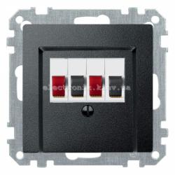 Аудио розетка двойная Schneider Electric Merten System M антрацит