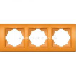 Рамка 3-я EL-BI Zena Colorline Оранжевый