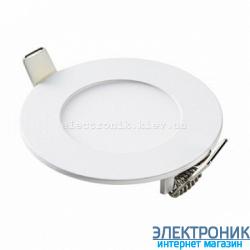 """Світлодіодна панель кругла-3Вт  (Ø85""""-Ø72) 6400K, 240 люмен"""