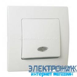 Makel Lilium Natural Kare Белый Выключатель с подсветкой
