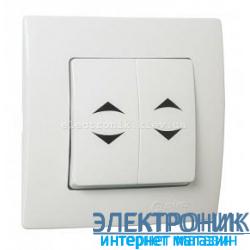 Makel Lilium Natural Kare Белый Переключатель проходной 2-х клавишный