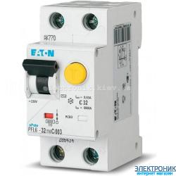 PFL6-32/1N/C/003 Диф. автомат. выкл. 2Р 32А 30мА тип С