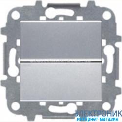 Выключатель 1-кл. кнопочный ABВ Zenit серебро