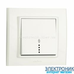 Выключатель проходной с подсветкой белый  OVIVO