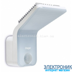 LED-светильник с датчиком движения 140°, IP55 Hager EE610