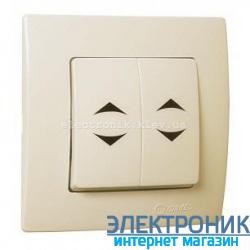 Makel Lilium Natural Kare КРЕМ Переключатель проходной 2-х клавишный