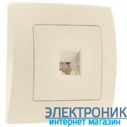 Makel Lilium Natural Kare КРЕМ Розетка телефонная (RJ11)