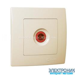Makel Lilium Natural Kare КРЕМ Розетка ТВ проходная (12дБ)