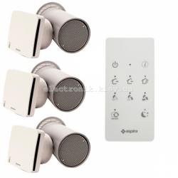 Комплект рекуператоров для 3-х комнатной квартиры с бактериальной очисткой Aspira Rhinocomfort 160 RF ErP V3