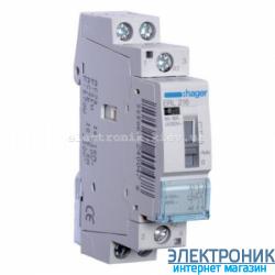 Установочное реле Hager ERL216 - 12В/16А, 2НО