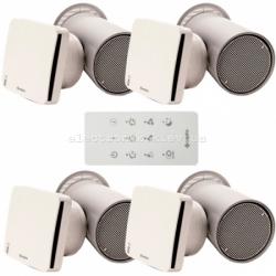 Комплект рекуператоров для 4-х комнатной квартиры с бактериальной очисткой Aspira Rhinocomfort 160 RF ErP V4