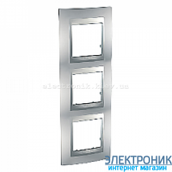 Рамка 3-я вертикальная Schneider Electric Unica Top