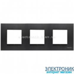 Рамка 3 пост ABВ Zenit антрацит