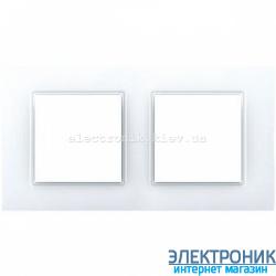 Рамка двухместная Schneider (Шнайдер) Unica Quadro Белая