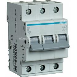 Выключатель автоматический Hager 3P B 63А MB363A