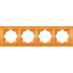 Рамка 4-я EL-BI Zena Colorline Оранжевый