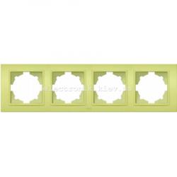 Рамка 4-я EL-BI Zena Colorline Оливковый