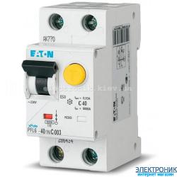 PFL6-40/1N/C/003 Диф. автомат. выкл. 2Р 40А 30мА тип С