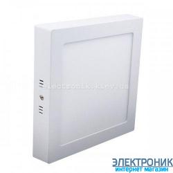 Світлодіодна панель квадратна-18Вт накладна (225x225) 6400K, 1440 люмен