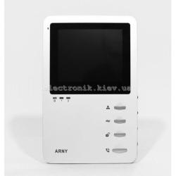 Видеодомофон ARNY AVD-410M с памятью. Белый