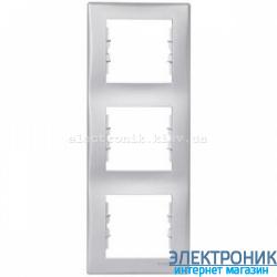Рамка трехместная Schneider (Шнайдер) Sedna вертикальная Серый SDN5801333