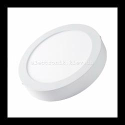 Світлодіодна панель кругла-6Вт накладна (Ø120) 4200K, 470 люмен