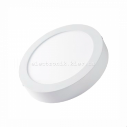 Світлодіодна панель кругла-6Вт накладна (Ø120) 6400K, 470 люмен