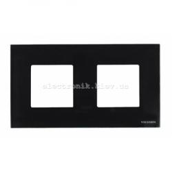 Рамка двойная ABВ Zenit черное стекло