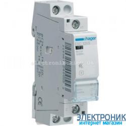 Контактор бесшумный Hager ESC125S - 230В/25A, 1НО