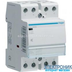 Контактор бесшумный Hager ESC463S - 230В/63A, 4НО
