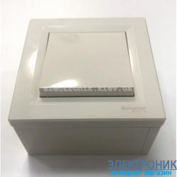 Переключатель накладной монтаж Schneider (Шнайдер) Asfora 1-клавишный проходной кремовый