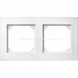 Рамка MERTEN M-PLAN двойная Полярно-Белый