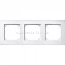 Рамка MERTEN M-PLAN тройная Полярно-Белый