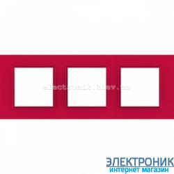 "Рамка трехместная Schneider Electric Unica Quadro ""Natura"" Lipstick"