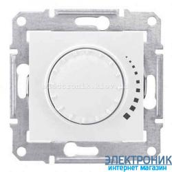 Диммер поворотно-нажимной универсальный 4-40 вт (подходит для LED освещения) (Шнайдер) Sedna  Sedna, белый