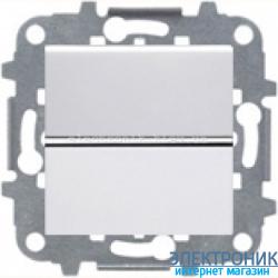 Выключатель 1-кл. кнопочный ABВ Zenit белый