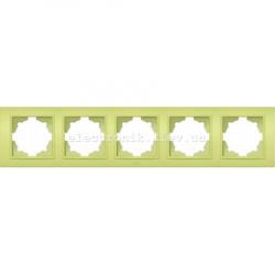 Рамка 5-я EL-BI Zena Colorline Оливковый